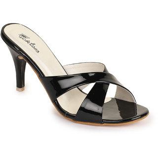 Picktoes Women Stylish Casualwear Mules Slip On Black Stiletto Heel