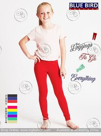 Multicolor Combed Cotton Leggings For Girls And Kids (Pack Of 5) Only Assorted Colors