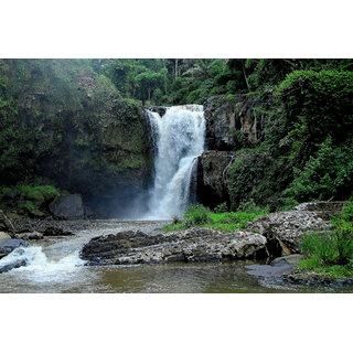 Waterfall Scenery Sticker Poster|Beautifull Waterfall|Home Decor Sticker Poster|Size:12X18 Inch