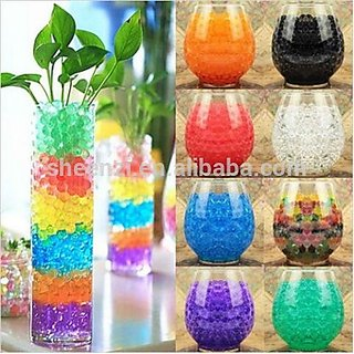 Satya Colorful Magic Crystal Water Jelly Mud Soil Beads Balls-Multi Color 10 Grms Approx 1000 Balls
