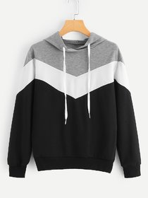Raabta Black And White With Grey Zigzag Strip Sweat Shirt