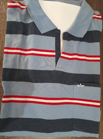 Men's Stripped Tshirt Without Grip And Button (Xl For 34 Waist, Xxl For 36-38 Waist)