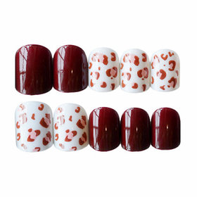 Leopard Red Multicolor Artificial Nail By Tinsley