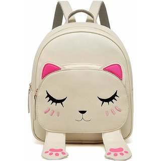 Bizanne Fashion Cute Small College Bags Backpacks For Girls (Cream, Bv1204)