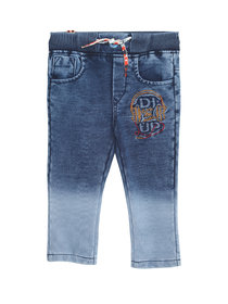 Tadpole Boy'S Blue Emroidered Casual Cotton Jeans