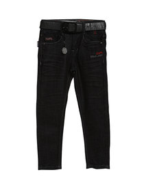 Tadpole Boy'S Black Casual Regular-Fit Mid-Rise Jeans