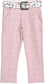 Tadpole Boy'S Pink Checkered Cotton Casual Jeans