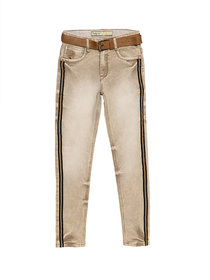 Tadpole Boy'S Brown Washed Cotton Casual Jeans