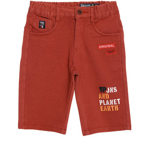 Tadpole Boy'S Mid-Rise Cotton Pink Regular-Fit Shorts