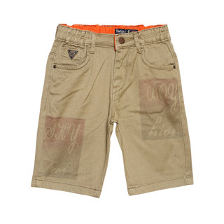 Tadpole Boy'S Brown Mid-Rise Cotton Regular-Fit Shorts