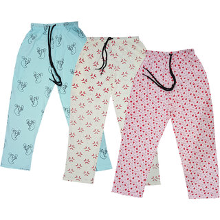 Indiweaves Girls And Boys Soft Cotton Track Pants Lower/Joggers (Pack Of 3)