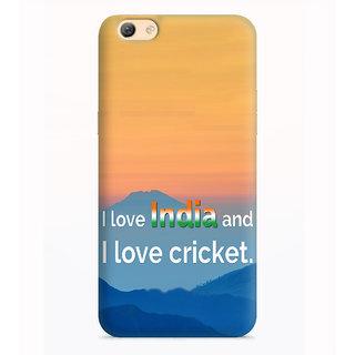 Printvisa India And Cricket Quote Designer Printed Hard Back Case Cover For Vivo V5 - Multicolor
