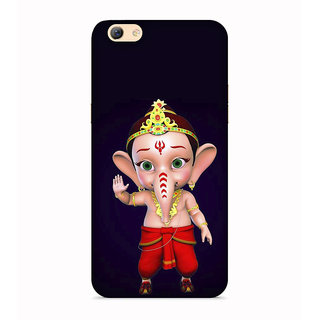 Printvisa Gold Ganapati Ganesh Ganesha Designer Printed Hard Back Case For Vivo V5S - Multicolor