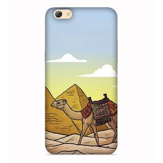 Printvisa Camel Art Symbol Desert Registan Designer Printed Hard Back Case For Vivo V5 - Multicolor