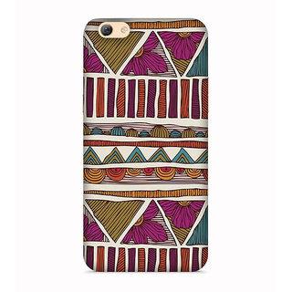 Printvisa Triangles Pyramid Colorful Patterns Design Designer Printed Hard Back Case For Vivo V5S - Multicolor