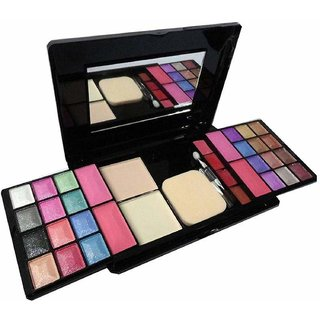 Tss All In One Makeup Kit With 24 Eyeshadows 4 Blushers 2 Powder Cakes And 4 Lip Colors (Multicolour)