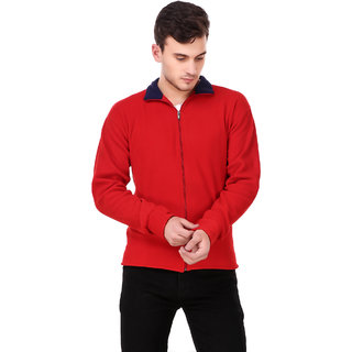 Ketex Men's Red Fleece Warm Jacket