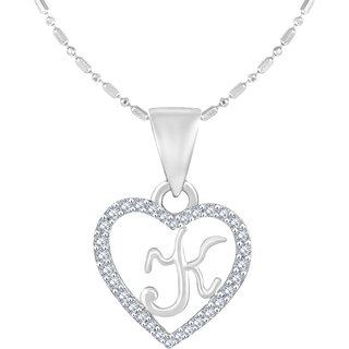 Golden Heart Jewels Rhodium Plated Heart Shape