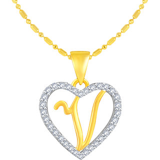Golden Heart Jewels Gold Plated Heart Shape