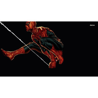 Spider Man Sticker Poster|Super Heroes Poster|Animated Posters|Size:12X18 Inch |Sticker Paper Poster, 12x18 Inch