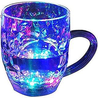 Toyroma Magic Glass Cup, Led Flashing Color Changing Liquid Activated Mug.