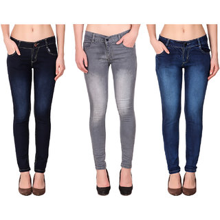 K-Tex Women's Slim Fit Jeans (Pack Of 3)