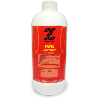 Zaena Npk Bacteria 100 Certified Organic And Natural Fertilizer Plant Food And Soil Manure (1000Ml) For All Types Of Plants/Crops/Garden Soil Manure (1000Ml Liquid)