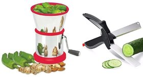 Round Shape Stainless Steel Chilly Cutter And Dry Fruit Cutter Vegetable Nuts Chopper With Smart Knife