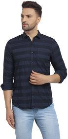 Cape Canary Men's Blue Striped Cotton Shirt