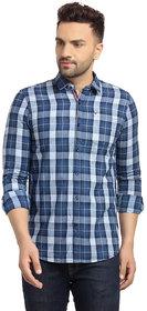 Cape Canary Men's Checkered Blue Button-Down Shirt