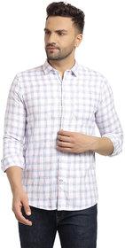 Cape Canary Men's Blue Checkered Regular Fit Shirt