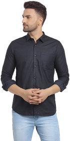 Cape Canary Men's Blue Printed Regular-Fit Shirt