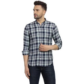 Cape Canary Men's Brown Checkered Cotton Shirt