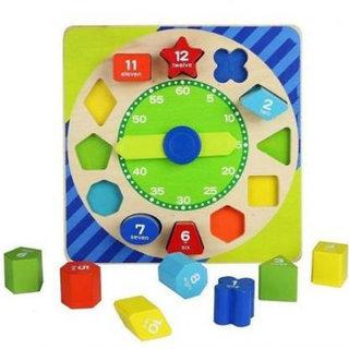 Blocks Clock Kids Puzzle Game Educational Toys (14 Pcs)