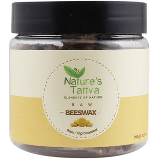 Nature's Tattva Pure Natural Beeswax From Organic Honey Farms - 100g