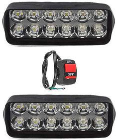 Eshopglee 2020 Fog Light 12 Led 2 Pcs Free 1 On/Off Switch