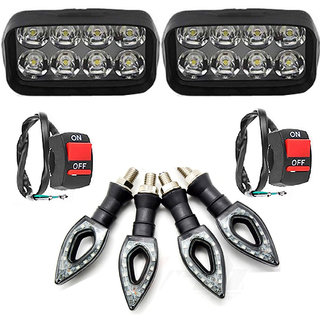 Eshopglee 2020 Fog Light 8 Led 2 Pcs + 2 On/Off Switch + 4 Pcs Pointer Indicator Light