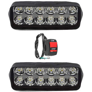 Eshopglee 2020 Fog Light 12 Led 2 Pcs Free 1 On/Off Switch