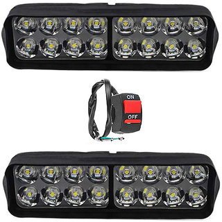 ESHOPGLEE 2020 Fog Light 16 Led 2 Pcs Free 1 On/Off Switch