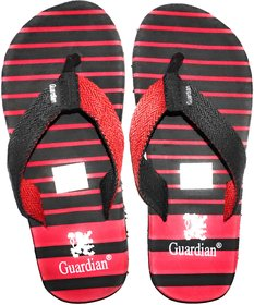 Guardian Slippers Red Black