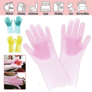 Vessel Crew Multicolor Silicon Brush Gloves