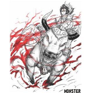 Monster Temporary Body Tattoo Waterproof For Girls Men Women Beautiful Popular Bhole Nath Tattoo