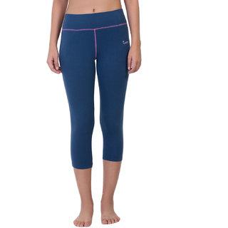 Envie Women's Blue Cotton Capri