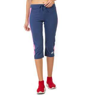 Envie Women's Blue Cotton Capri
