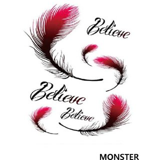 Monster Temporary Tattoo Waterproof For Girls, Men, Women Beautiful Popular Lovely Hand Design Tattoo