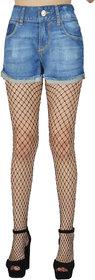 N2S Next2Skin Women's Fishnet Black Net Pattern Pantyhose/Stocking (Large Net)