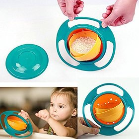 Regal Spill Proof Gyroscopic Bowl For Kids Smooth, 360 Degrees Rotation With Highly Durable Material For Baby Kids