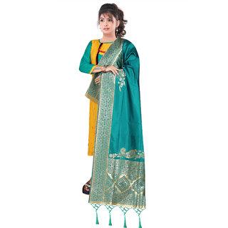 Naisargee Women's Banarasi Silk Jacquard Dupatta With Designer Laria