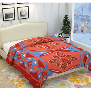 Fleece Polyester Multicolor 3D Printed Double Bed AC Blankets By Azaani
