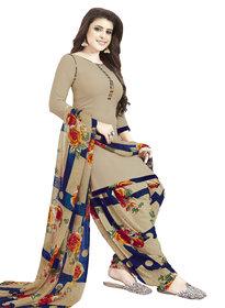 Women Shoppee Women's Beige, Blue, Yellow Printed Salwar Suit Material